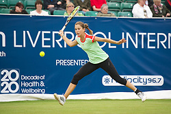 LIVERPOOL, ENGLAND - Thursday, June 21, 2012: Belinda Bencic (CHE) during the opening day of the Medicash Liverpool International Tennis Tournament at Calderstones Park. (Pic by David Rawcliffe/Propaganda)
