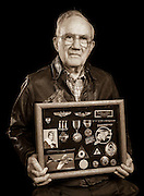 Mr. Bob Mitchell, Jr. was a B-17 ball-turret gunner in the 544 Bomb Squadron, 384th Bomb Group.  Originally from Alabama he completed 38 missions, and later earned a masters degree from Vanderbilt University.