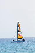 Sailboat, Waikiki, Oahu, Hawaii