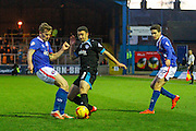 Portsmouth FC Defender Enda Stevens on the attack during the Sky Bet League 2 match between Carlisle United and Portsmouth at Brunton Park, Carlisle, England on 21 November 2015. Photo by Craig McAllister.