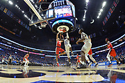 Middle Tennessee Blue Raiders forward James Hawthorne (4) is defended by Mississippi Rebels forward KJ Buffen (14) during an NCAA college basketball game in Nashville, Tenn., Friday, Dec. 21, 2018. (Jim Brown/Image of Sport)