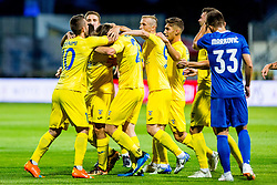 Domzale players celebrate during 2nd leg football match between NK Domzale and NK Siroki Brijeg in 1st Qualifying round of UEFA Europa League, on July 19, 2018 in Domzale Sports Park, Domzale, Slovenia. Photo by Ziga Zupan / Sportida
