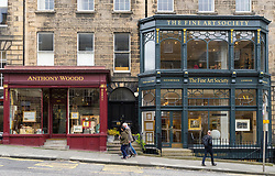 Art galleries in New Town district of Edinburgh, Scotland, United Kingdom