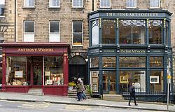 Art galleries in New Town district of Edinburgh, Scotland, United Kingdom
