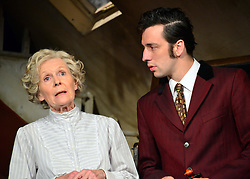 Lady Killers.<br /> Ralf Little with Angela Thorne on stage in the Lady Killlers Vaudeville Theatre<br /> London, United Kingdom<br /> Monday, 8th July 2013<br /> Picture by Nils Jorgensen / i-Images
