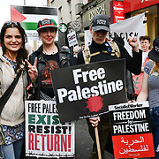 Hundreds of pro-Palestian Students Rally for Palestine: Exist! Resist! Return! rally demand Stop Arming Israel and Gaze - End the Siege outside Israeli Embassy, Kensington High Street