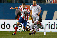 31.01.2013 SPAIN - Copa del Rey 12/13 Matchday 1/4  match played between Atletico de Madrid vs Sevilla Futbol Club (2-1) at Vicente Calderon stadium. The picture show  Raul Garcia (Spanish midfielder of At. Madrid)