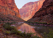 A peaceful section of the Colorado River in the Muav Gorge. Grand Canyon National Park in Arizona.