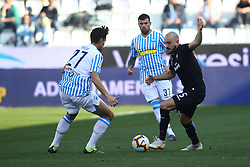 """Foto LaPresse/Filippo Rubin<br /> 03/03/2019 Ferrara (Italia)<br /> Sport Calcio<br /> Spal - Sampdoria - Campionato di calcio Serie A 2018/2019 - Stadio """"Paolo Mazza""""<br /> Nella foto: RICCARDO SAPONARA (SAMPDORIA) VS FELIPE DAL BELLO (SPAL)<br /> <br /> Photo LaPresse/Filippo Rubin<br /> March 03, 2019 Ferrara (Italy)<br /> Sport Soccer<br /> Spal vs Sampdoria - Italian Football Championship League A 2018/2019 - """"Paolo Mazza"""" Stadium <br /> In the pic: RICCARDO SAPONARA (SAMPDORIA) VS FELIPE DAL BELLO (SPAL)"""