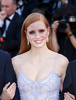 Jessica Chastain at the Okja gala screening,  at the 70th Cannes Film Festival Friday 19th May 2017, Cannes, France. Photo credit: Doreen Kennedy