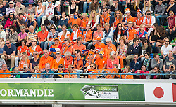 Dutch supporters - Freestyle Grand Prix Dressage - Alltech FEI World Equestrian Games™ 2014 - Normandy, France.<br /> © Hippo Foto Team - Jon Stroud<br /> 25/06/14