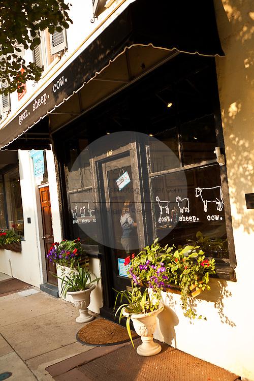Boutique shop along Church Street Charleston, SC.