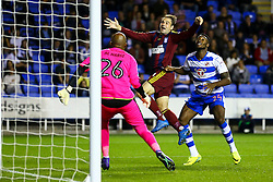 Brett Pitman of Ipswich Town is fouled by Tyler Blackett of Reading - Mandatory by-line: Jason Brown/JMP - 09/09/2016 - FOOTBALL - Madejski Stadium - Reading, England - Reading v Ipswich Town - Sky Bet Championship