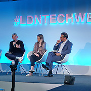 London,England,UK : 20 th June 2016 :  Oli Barrett , Brooke Roberts,Matthew Drinkwater and Jenny Griffiths talks of Fashion and Technology at the London Technology Week 2016 opening press day at The Yard,Worship Street, London. Photo by See Li