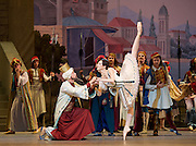 Le Corsaire <br /> by Alexei Ratmansky of Petipa <br /> Bolshoi Ballet <br /> at The Royal Opera House, Covent House, London, Great Britain <br /> 11th August 2016 <br /> Rehearsal<br /> <br /> <br /> <br /> <br /> Yulia Stepanova as Medora<br /> <br /> <br /> <br /> Photograph by Elliott Franks <br /> Image licensed to Elliott Franks Photography Services