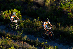 Sabine Spitz and Robyn de Groot of team Ascendis Health  during stage 1 of the 2017 Absa Cape Epic Mountain Bike stage race held from Hermanus High School in Hermanus, South Africa on the 20th March 2017<br /> <br /> Photo by Greg Beadle/Cape Epic/SPORTZPICS<br /> <br /> PLEASE ENSURE THE APPROPRIATE CREDIT IS GIVEN TO THE PHOTOGRAPHER AND SPORTZPICS ALONG WITH THE ABSA CAPE EPIC<br /> <br /> ace2016