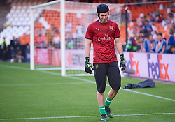 May 9, 2019 - Valencia, U.S. - VALENCIA, SPAIN - MAY 09: Petr Cech, goalkeeper of Arsenal CF looks during UEFA Europa League Semi Final Second Leg match between Valencia CF and Arsenal FC at Mestalla stadium on May 09, 2019 in Valencia, Spain. (Photo by Carlos Sanchez Martinez/Icon Sportswire) (Credit Image: © Carlos Sanchez Martinez/Icon SMI via ZUMA Press)