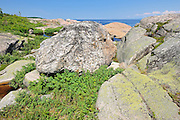 Rocky shoreline along the Gulf of St. Lawrence<br /> Cap-de-Bon-Désir<br /> Quebec<br /> Canada