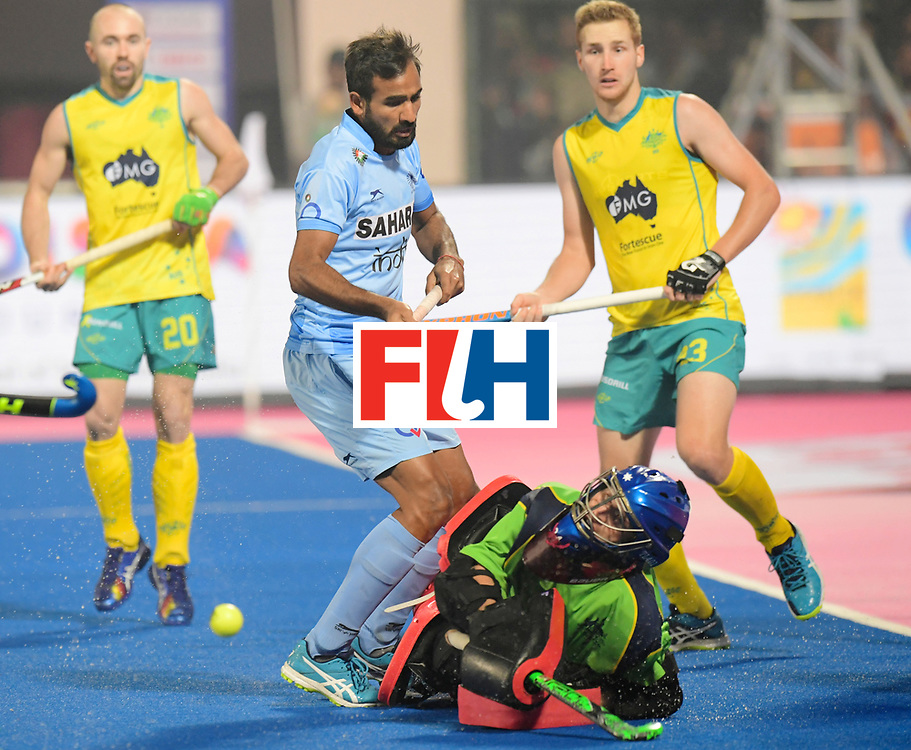 Odisha Men's Hockey World League Final Bhubaneswar 2017<br /> Match id:02<br /> Australia v India<br /> Foto: <br /> WORLDSPORTPICS COPYRIGHT FRANK UIJLENBROEK