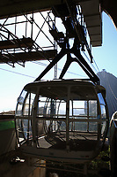 empty cable car cabin of the sugar loaf in rio de janeiro brazil
