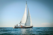 Young people sailing together, Adriatic Sea, Croatia