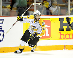 Aaron Lewadniuk of the brandon Wheat Kings in Game 3 of the 2010 MasterCard Memorial Cup in Brandon, MB on Sunday May 16. Photo by Aaron Bell/CHL Images
