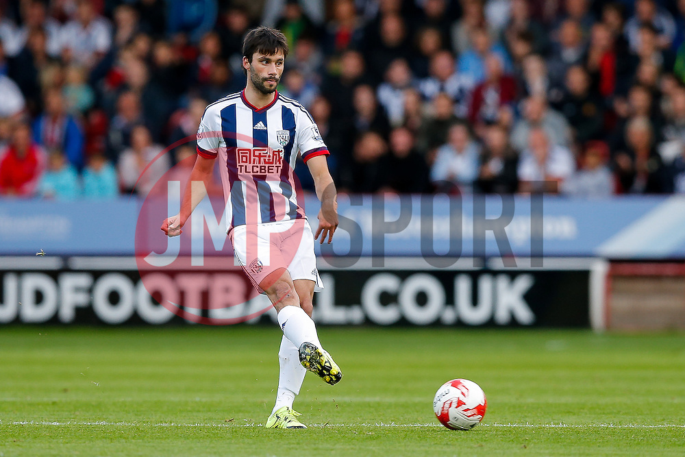 Claudio Yacob of West Brom in action - Mandatory byline: Rogan Thomson/JMP - 07966 386802 - 28/07/2015 - SPORT - Football - Walsall, England - Besot Stadium - Walsall v West Bromwich Albion - 2015/16 Pre Season Friendly.
