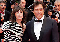 Actor Javier Bardem and actress Charlotte Gainsbourg at the Opening Ceremony and The Dead Don't Die gala screening at the 72nd Cannes Film Festival Tuesday 14th May 2019, Cannes, France. Photo credit: Doreen Kennedy
