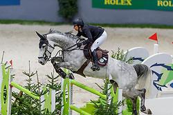 KRAUT Laura (USA), Jakarta<br /> Genf - CHI Geneve Rolex Grand Slam 2019<br /> Prix des Communes Genevoises<br /> 2-Phasen-Springen<br /> International Jumping Competition 1m50<br /> Two Phases: A + A, Both Phases Against the Clock<br /> 13. Dezember 2019<br /> © www.sportfotos-lafrentz.de/Stefan Lafrentz