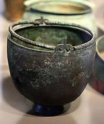 German bronze age bucket from a gravesite 200 -300 AD. Found in Voigtstedt, Thuringen.