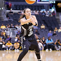 25 May 2014: San Antonio Stars guard Becky Hammon (25) passes the ball during the Los Angeles Sparks 83-62 victory over the San Antonio Stars, at the Staples Center, Los Angeles, California, USA.