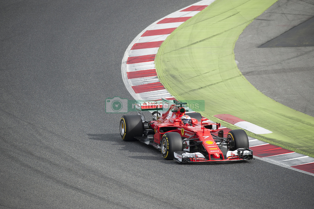 February 28, 2017 - Montmelo, Spain - Kimi Raikkonen, driver of the Ferrari Team, in action during the 2nd day of the Formula 1 Test at the Circuit of Catalunya. (Credit Image: © Pablo Freuku/Pacific Press via ZUMA Wire)