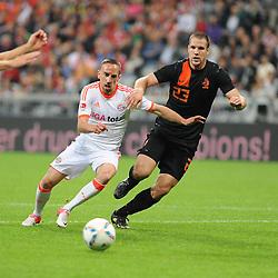 22-05-2012 VOETBAL: BAYERN MUNCHEN - NEDERLAND: MUNCHEN<br /> Franck RIBERY (FC Bayern Muenchen) gegen Ron FLAAR (Niederlande)<br /> ©2012-FotoHoogendoorn.nl