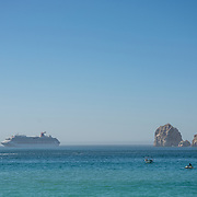 Cabo San Lucas Bay and The Arch in the background. BCS.