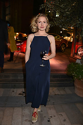 Actress Kate Phillips from Peaky Blinders at the launch of Fiume at Battersea Power Station, Battersea, London England. 16 November 2017.<br /> Photo by Dominic O'Neill/SilverHub 0203 174 1069 sales@silverhubmedia.com