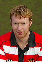 WIGAN, ENGLAND - Tuesday, January 6, 2004: Wigan Warriors' David Hodgson pictured during the team's pre-season photo-call at the JJB Stadium. (Pic by David Rawcliffe/Propaganda)
