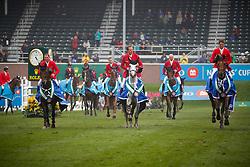 Team Belgium: Philippaerts Nicola,  Philippaerts Olivier, Devos Pieter, François Mathy Jr <br /> BMO Nations Cup<br /> CSIO Spruce Meadows - Calgary 2013<br /> © Dirk Caremans