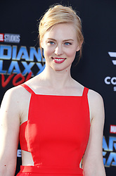 Deborah Ann Woll at the Los Angeles premiere of 'Guardians Of The Galaxy Vol. 2' held at the Dolby Theatre in Hollywood, USA on April 19, 2017.