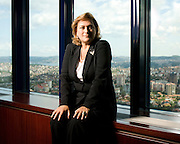 Guler Sabanci, Chairperson of Sabanci Holding.  Photographed in 2007 by Brian Smale at the Sabanci offices in Istanbul, Turkey for Fortune Magazine's list of the world's most powerful women.