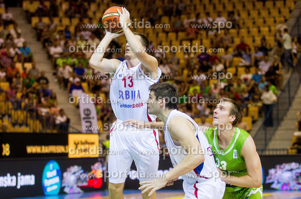 Danilo Andusic of Serbia during friendly match between National teams of Slovenia and Serbia for Eurobasket 2013 on August 3, 2013 in Arena Zlatorog, Celje, Slovenia. (Photo by Vid Ponikvar / Sportida.com)