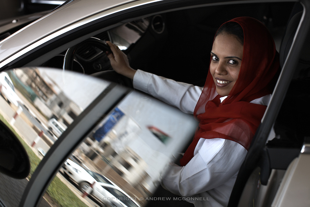 Dalia Sayed Abugabal, Senior Sales Executive of DAL Motor Co. Ltd in Khartoum, Sudan, on Thursday, Apr. 12, 2007. The Mercedes dealership is seeing an increase in sales of luxury cars..Khartoum is modeling itself as the Dubai of Africa and despite Western sanctions the city is booming. Away from the troubles and poverty that plaque the rest of Sudan, development in Khartoum is moving at an astonishing rate. Investment from the East, and in particular China, allowed the Sudanese economy to grow by 11% in 2007. This growth is driven largely by oil, with production rising from 63,000 barrels per day in 1999 to over 500,000 barrels today.