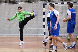 Matevz Skok at practice session of handball team Slovenia before the match against Germany, on May 01, 2017 in Vojasnica Edvarda Peperka, Ljubljana, Slovenia. Photo by Matic Klansek Velej / Sportida