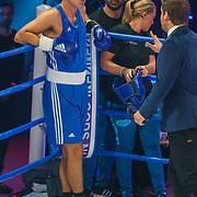 NLD/Amsterdam/20181107 - Opname Boxingstars 2018, 2e aflevering,       38061, Rick Brandsteder in gevecht tegen Juvat Westendorp