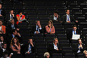 © Licensed to London News Pictures. 04/10/2011. MANCHESTER. UK. Delegates at The Conservative Party Conference at Manchester Central today, October 4, 2011. Photo credit:  Stephen Simpson/LNP