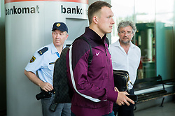 Phil Jones during arrival of  England National Football team 1 day before EURO 2016 Qualifications match against Slovenia, on June 13, 2015 in Airport Joze Pucnik, Brnik - Ljubljana, Slovenia. Photo by Vid Ponikvar / Sportida