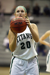 29 January 2011: Holly Harvey during an NCAA Womens basketball game between the Carthage Reds and the Illinois Wesleyan Titans at Shirk Center in Bloomington Illinois.