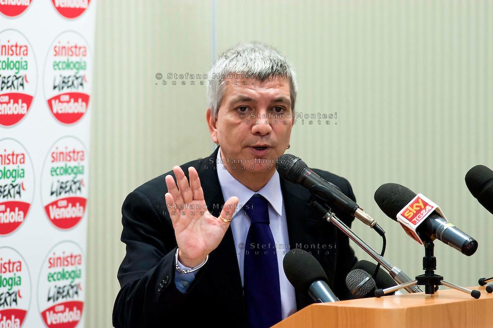Roma 24 Aprile 2013.Nichi Vendola  alla direzione Nazionale di Sinistra Ecologia e Libertà
