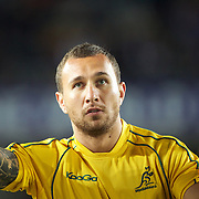 Quade Cooper, Australia warming up before the New Zealand V Australia Semi Final match at the IRB Rugby World Cup tournament, Eden Park, Auckland, New Zealand, 16th October 2011. Photo Tim Clayton...