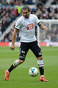 Derby County midfielder Bradley Johnson during the Sky Bet Championship match between Derby County and Wolverhampton Wanderers at the iPro Stadium, Derby, England on 18 October 2015. Photo by Alan Franklin.