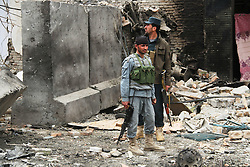 Afghan security force members stand at the site of an attack in Jalalabad city, eastern Afghanistan, March 2, 2016. About six persons, including four attackers, were killed and 19 people wounded when gunmen attacked an Indian Consulate office in eastern Afghanistan's Jalalabad city on Wednesday, police said. EXPA Pictures © 2016, PhotoCredit: EXPA/ Photoshot/ Rahman Safi<br />